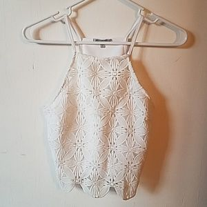 small Charlotte Russe white halter top